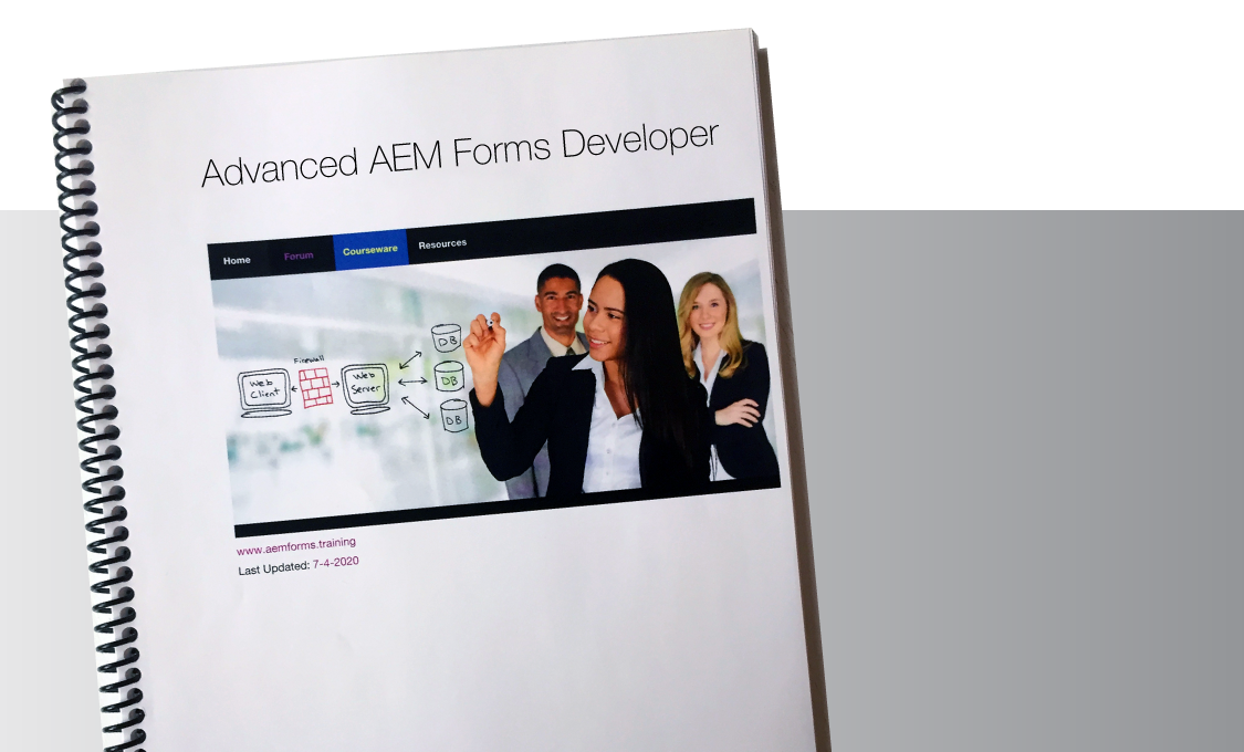 AEM Forms Advanced Developer Training Manual.