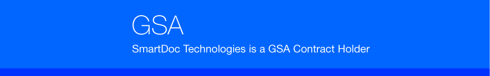 SmartDoc Technologies is a GSA Contract Holder